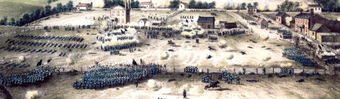 painting depicting Union assault against Marye's Heights