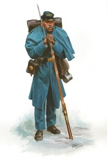 painting of United States Colored Soldier