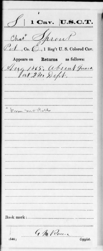 scan of census record for Charles Sprout
